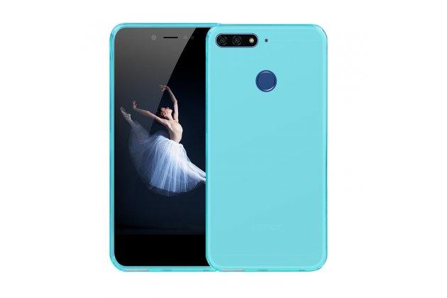 Фирменная ультра-тонкая полимерная из мягкого качественного силикона задняя панель-чехол-накладка для Huawei Honor 7A / Huawei Honor Play 7 Standart/ Y5 Prime 2018 голубая