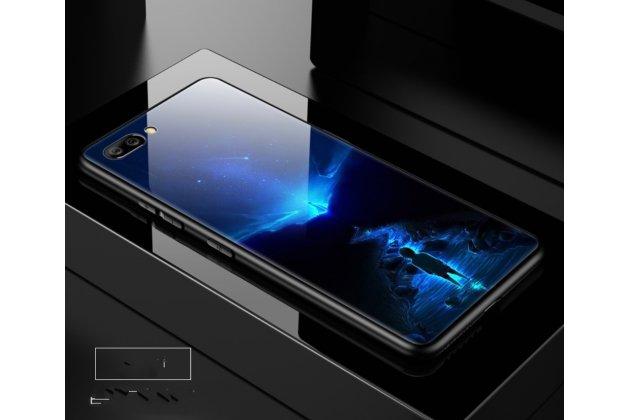 """Фирменный ультра-тонкий силиконовый чехол-бампер для Huawei Honor 10 с закаленным стеклом на заднюю крышку телефона """"тематика Лунный свет"""""""