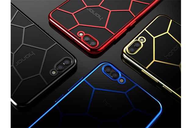 Фирменная ультра-тонкая полимерная из мягкого качественного силикона задняя панель-чехол-накладка для Huawei Honor 10 черная паутина