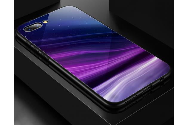 """Фирменный ультра-тонкий силиконовый чехол-бампер для Huawei Honor 10 с закаленным стеклом на заднюю крышку телефона """"тематика Абстракция"""""""