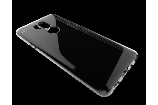 Фирменная ультра-тонкая полимерная из мягкого качественного силикона задняя панель-чехол-накладка для LG G7 ThinQ / LG G7 прозрачная