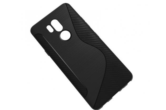Фирменная ультра-тонкая полимерная из мягкого качественного силикона задняя панель-чехол-накладка для LG G7 ThinQ / LG G7 черная