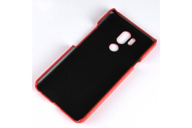 Фирменная роскошная элитная премиальная задняя панель-крышка на пластиковой основе обтянутая лаковой кожей крокодила  для LG G7 ThinQ / LG G7 белый