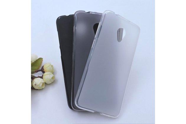 Фирменная ультра-тонкая полимерная из мягкого качественного силикона задняя панель-чехол-накладка для Alcatel 1X 5059D белая