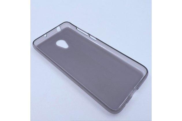 Фирменная ультра-тонкая полимерная из мягкого качественного силикона задняя панель-чехол-накладка для Alcatel 1X 5059D серая