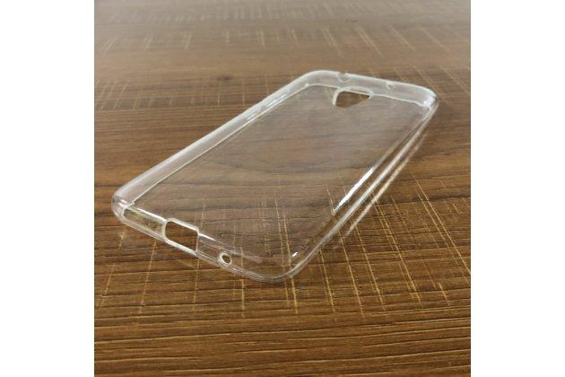 Фирменная ультра-тонкая полимерная из мягкого качественного силикона задняя панель-чехол-накладка для Alcatel 1X 5059D прозрачная