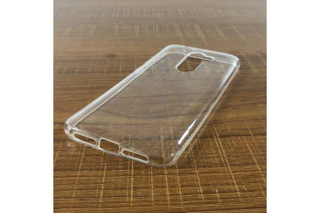 Фирменная ультра-тонкая полимерная из мягкого качественного силикона задняя панель-чехол-накладка для Alcatel 3X 5058I прозрачная
