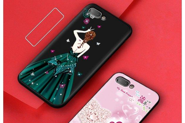 """Фирменная роскошная задняя панель-чехол-накладка  из мягкого силикона с безумно красивым расписным 3D рисунком на BlackBerry KEY2 """"тематика Изумрудное платье"""""""