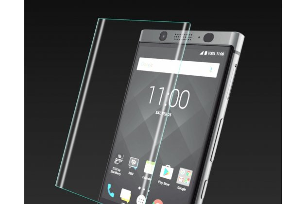 Фирменная оригинальная 3D защитная пленка с закругленными краями которое полностью закрывает экран для телефона BlackBerry KEY2 глянцевая