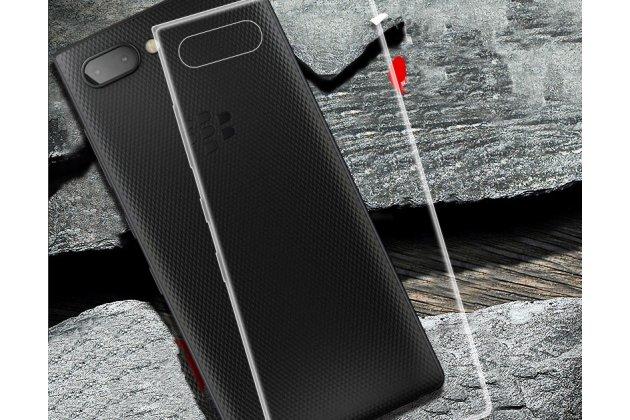Фирменная ультра-тонкая полимерная из мягкого качественного силикона задняя панель-чехол-накладка для BlackBerry KEY2 прозрачная