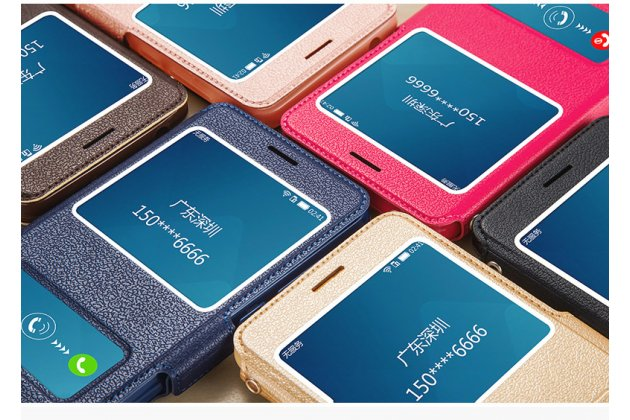 Фирменный чехол-книжка для Huawei Enjoy 8 / Huawei Nova 2 Lite / Huawei Y7 Prime 2018 / Huawei Honor Play 7C / Huawei Honor 7C Pro (LND-L29 / AL30) розовый с окошком для входящих вызовов и свайпом водоотталкивающий