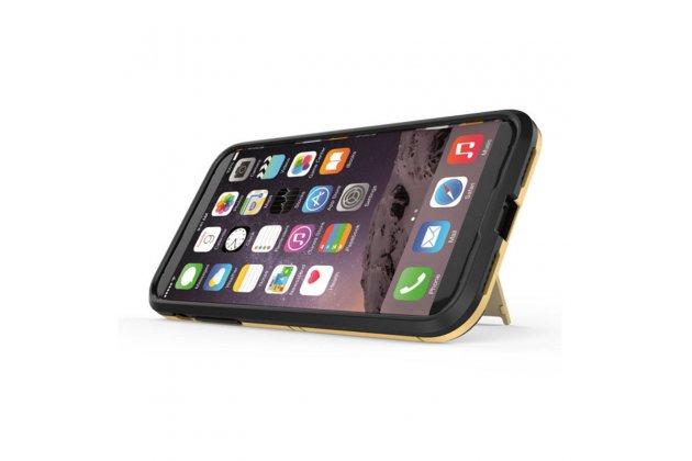 Противоударный усиленный ударопрочный фирменный чехол-бампер-пенал для Huawei Enjoy 8 / Huawei Nova 2 Lite / Huawei Y7 Prime 2018 / Huawei Honor Play 7C / Huawei Honor 7C Pro (LND-L29 / AL30) черный