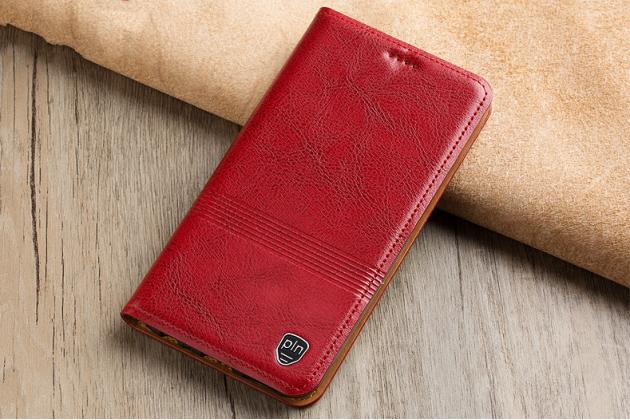 Фирменный премиальный элитный чехол-книжка из качественной импортной кожи с мульти-подставкой и визитницей для Huawei Honor 7A Pro/ Huawei Enjoy 8E/ Huawei Y6 2018/ Huawei Y6 Prime 2018  красный