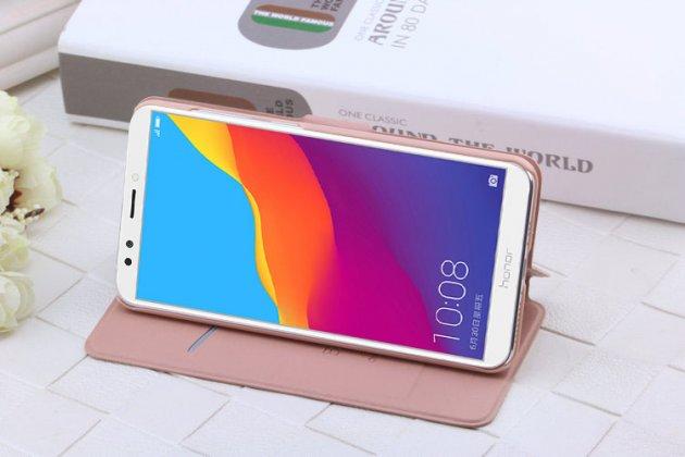 Фирменный роскошный чехол-книжка безумно красивый декорированный бусинками и кристаликами на Huawei Honor 7A Pro/ Huawei Enjoy 8E/ Huawei Y6 2018/ Huawei Y6 Prime 2018 золотой