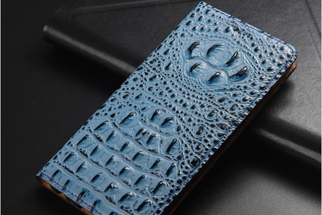 Фирменный роскошный эксклюзивный чехол с объёмным 3D изображением рельефа кожи крокодила синий для Huawei Honor 7A Pro/ Huawei Enjoy 8E/ Huawei Y6 2018/ Huawei Y6 Prime 2018 . Только в нашем магазине. Количество ограничено