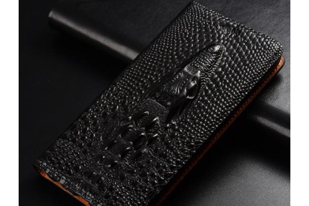 Фирменный роскошный эксклюзивный чехол с объёмным 3D изображением кожи крокодила черный для Huawei Honor 7A Pro/ Huawei Enjoy 8E/ Huawei Y6 2018/ Huawei Y6 Prime 2018  Только в нашем магазине. Количество ограничено