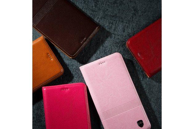Фирменный премиальный элитный чехол-книжка из качественной импортной кожи с мульти-подставкой и визитницей для Huawei Honor 7A Pro/ Huawei Enjoy 8E/ Huawei Y6 2018/ Huawei Y6 Prime 2018  коричневый