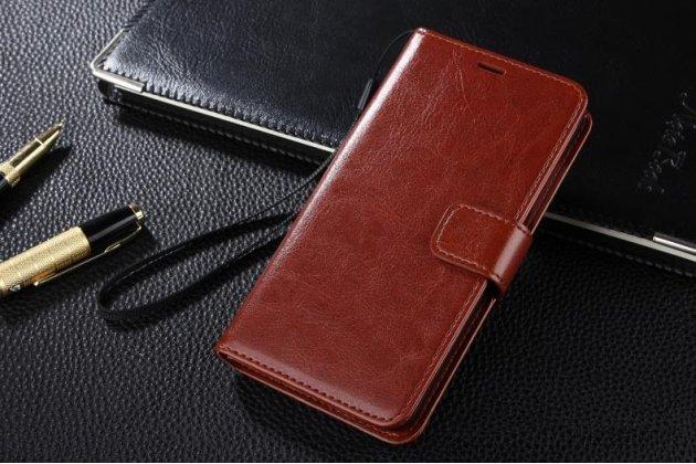 Фирменный чехол-книжка из качественной импортной кожи с подставкой застёжкой и визитницей для Huawei Mate 20 Pro / Mate 20 RS 6.39 коричневый
