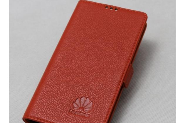Фирменный оригинальный подлинный чехол с логотипом для Huawei Mate 20 6.53 из натуральной кожи красный