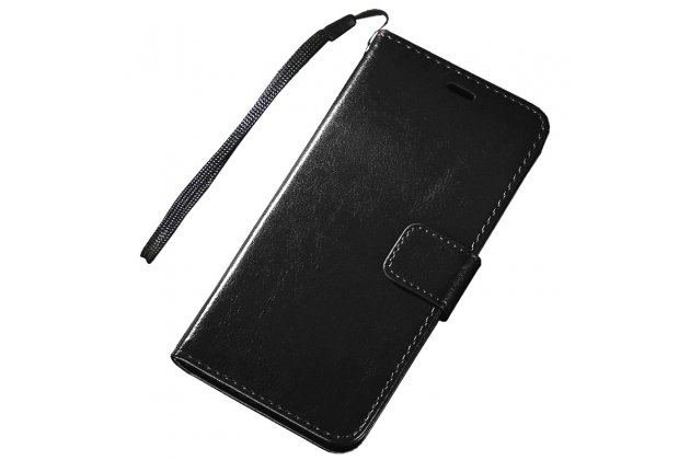 Фирменный чехол-книжка из качественной импортной кожи с подставкой застёжкой и визитницей для Huawei Mate 20 Pro / Mate 20 RS 6.39 черный