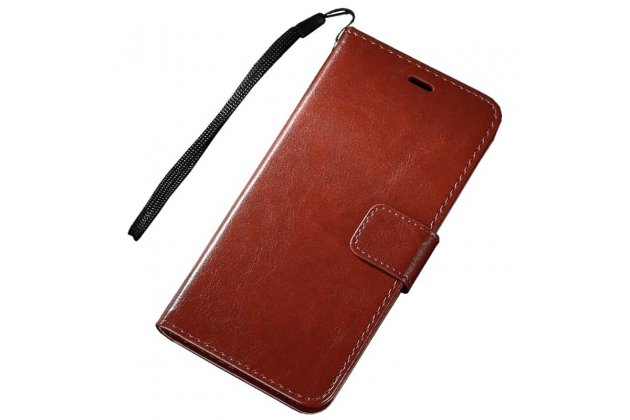 Фирменный чехол-книжка из качественной импортной кожи с подставкой застёжкой и визитницей для Huawei Mate 20 6.53 коричневый