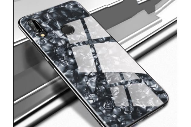 Фирменный ультра-тонкий силиконовый чехол-бампер для Huawei Nova 3e 4/128GB с закаленным стеклом на заднюю крышку телефона черный
