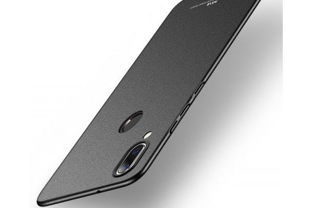 Задняя панель-крышка из прочного пластика с матовым противоскользящим покрытием для Huawei Nova 3e 4/128GB в черном цвете