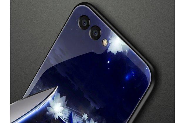 """Фирменный ультра-тонкий силиконовый чехол-бампер для Huawei Nova 3e 4/128GB с закаленным стеклом на заднюю крышку телефона """"тематика Лунная соната"""""""