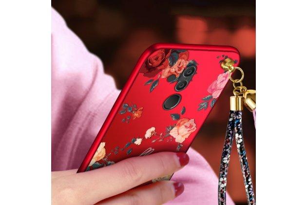 """Фирменная уникальная задняя панель-крышка-накладка из тончайшего силикона для Huawei Mate 20 Lite (SNE-LX1) с безумно красивым рисунком """"Розы"""""""