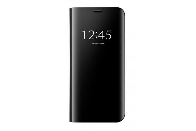 """Чехол-книжка с дизайном """"Clear View Cover"""" полупрозрачный с зеркальной поверхностью для Huawei Mate 20 Lite (SNE-LX1) черный"""