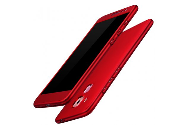 Фирменный уникальный чехол-бампер-панель с полной защитой дисплея и телефона по всем краям и углам для Huawei Mate 20 Lite (SNE-LX1) красный
