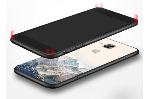 """Фирменная роскошная задняя панель-чехол-накладка из мягкого силикона с объемным 3D изображением на Huawei Mate 20 Lite (SNE-LX1) с безумно красивым рисунком """"Горы"""""""