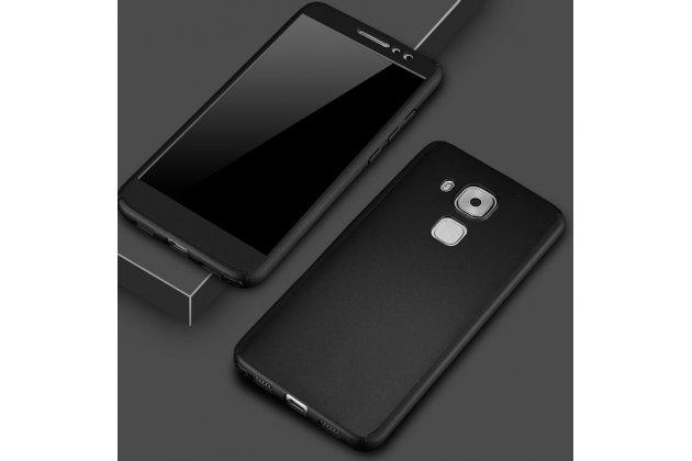 Фирменный уникальный чехол-бампер-панель с полной защитой дисплея и телефона по всем краям и углам для Huawei Mate 20 Lite (SNE-LX1) черный