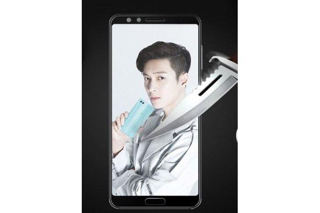 Фирменное 3D защитное изогнутое стекло с закругленными изогнутыми краями которое полностью закрывает экран / дисплей по краям с олеофобным покрытием для Huawei Mate 20 Lite (SNE-LX1) черное