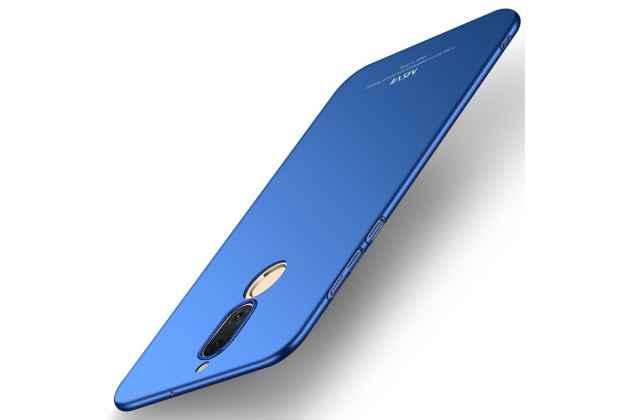Фирменная задняя панель-крышка-накладка из тончайшего и прочного пластика для Huawei Mate 20 Lite (SNE-LX1) синяя