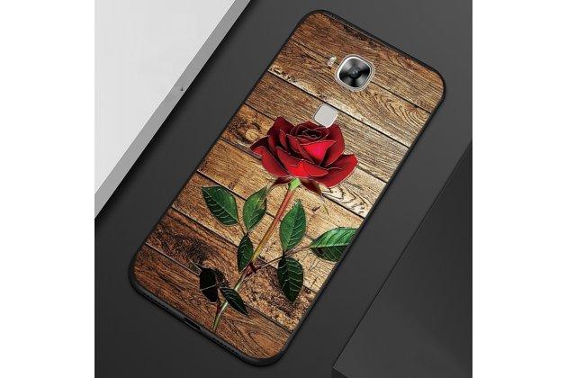 """Фирменная роскошная задняя панель-чехол-накладка из мягкого силикона с объемным 3D изображением на Huawei Mate 20 Lite (SNE-LX1) с безумно красивым рисунком """"Роза"""""""