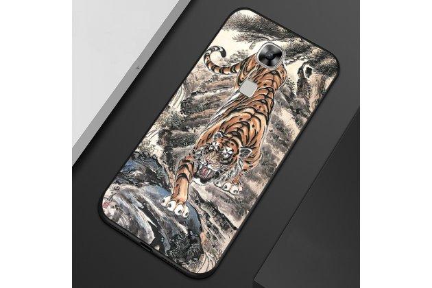 """Фирменная роскошная задняя панель-чехол-накладка из мягкого силикона с объемным 3D изображением на Huawei Mate 20 Lite (SNE-LX1) с безумно красивым рисунком """"Тигр"""""""