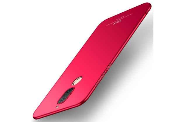 Фирменная задняя панель-крышка-накладка из тончайшего и прочного пластика для Huawei Mate 20 Lite (SNE-LX1) красная