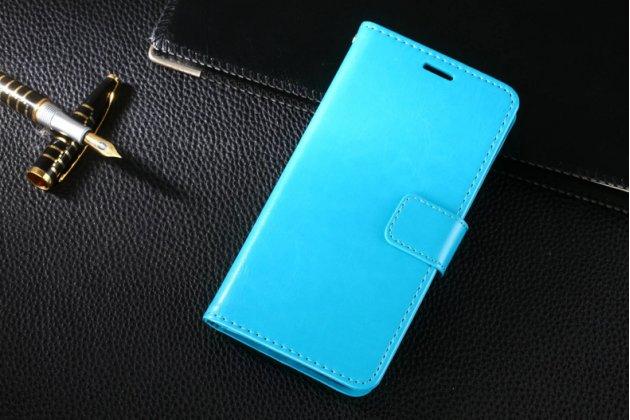Фирменный чехол-книжка из качественной импортной кожи с подставкой застёжкой и визитницей для Huawei Mate 20 Lite (SNE-LX1) бирюзовый