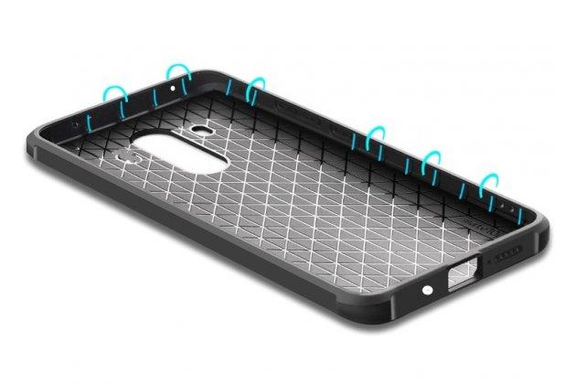 Фирменная уникальная задняя панель-крышка-накладка из тончайшего силикона для Huawei Mate 20 Lite (SNE-LX1) с объёмным 3D рисунком тематика Дракон синяя