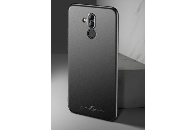 Фирменная задняя панель-крышка-накладка из тончайшего и прочного пластика для Huawei Mate 20 Lite (SNE-LX1) черная