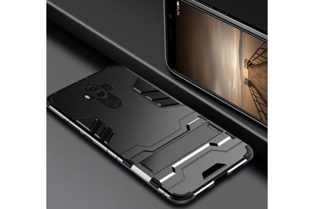 Противоударный усиленный ударопрочный фирменный чехол-бампер-пенал для Huawei Mate 20 Lite (SNE-LX1) черный
