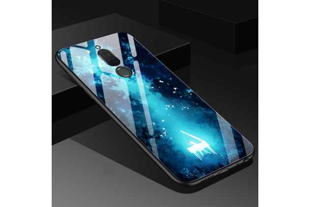 """Фирменный ультра-тонкий силиконовый чехол-бампер для Huawei Mate 20 Lite (SNE-LX1) с закаленным стеклом на заднюю крышку с изображением """"Пианист"""""""