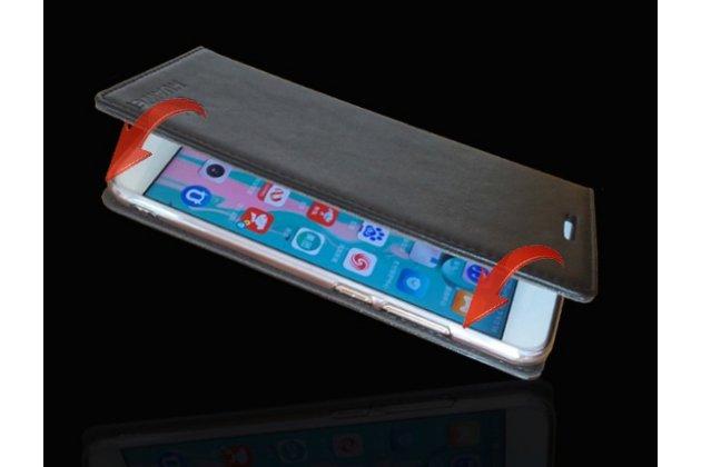 Фирменный чехол-книжка из качественной импортной кожи с мульти-подставкой для Huawei Mate 20 Lite (SNE-LX1) черный