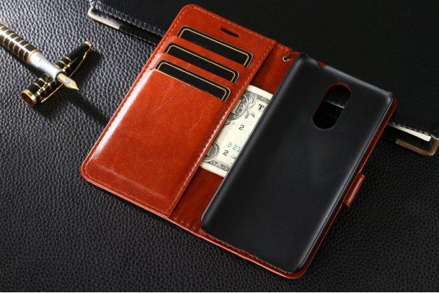 Фирменный чехол-книжка из качественной импортной кожи с подставкой застёжкой и визитницей для Huawei Mate 20 Lite (SNE-LX1) красный