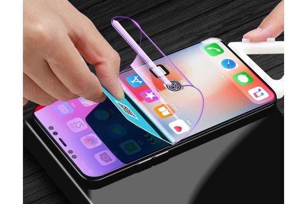 Фирменная оригинальная 3D защитная пленка с закругленными краями которое полностью закрывает экран для телефона iPhone XS глянцевая