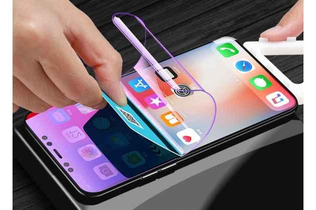 Фирменная оригинальная 3D защитная пленка с закругленными краями которое полностью закрывает экран для телефона iPhone XS Max глянцевая