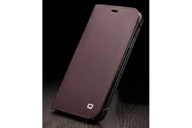 """Фирменный премиальный элитный чехол-книжка из качественной импортной кожи с мульти-подставкой и визитницей для iPhone XS Max """"Ретро"""" коричневый"""
