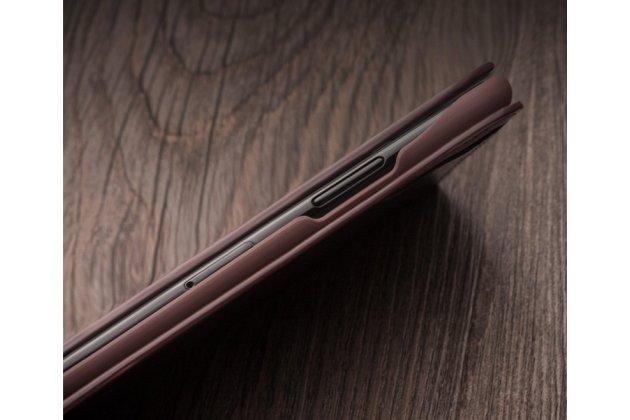 Фирменный премиальный элитный чехол-книжка из качественной импортной кожи с мульти-подставкой и визитницей для iPhone XR коричневый