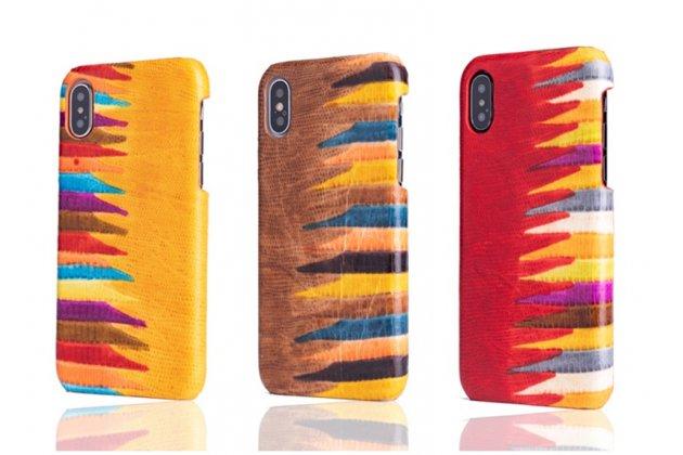 """Фирменная неповторимая экзотическая панель-крышка обтянутая кожей крокодила с фактурным тиснением для iPhone XR тематика """"Тропический Коктейль"""" желтая. Только в нашем магазине. Количество ограничено."""